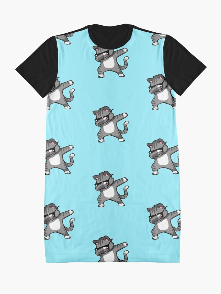 Alternate view of Dabbing Cat Funny Hip Hop T-shirt Graphic T-Shirt Dress