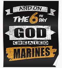 God Created Marines Poster