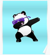 Dabbing Panda Poster