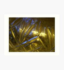 Blue Light through Glass Art Print