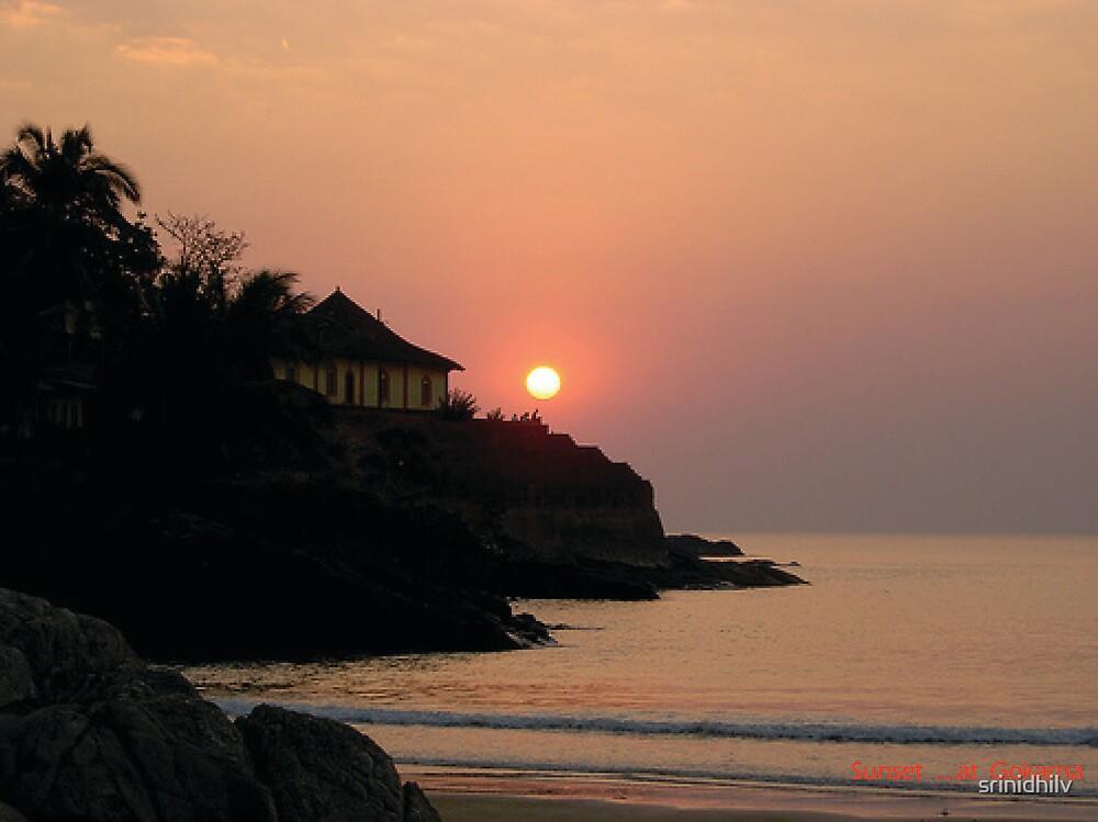 Sunset at Gokarna, South India by srinidhilv