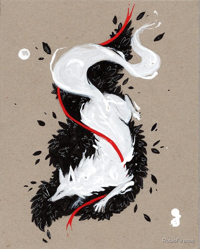 WHITE FOX RIBBONS  by RubisFirenos