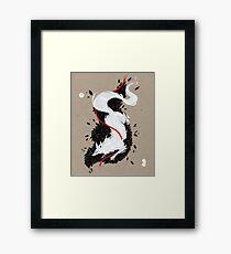 WHITE FOX RIBBONS  Framed Print