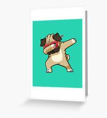 Tupfen-lustiges Hip-Hop-T-Shirt des Pug Grußkarte