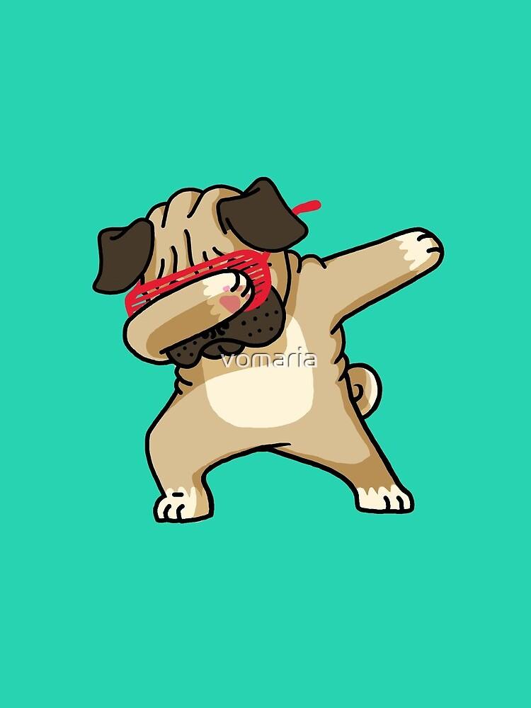 Dabbing Pug funny hip hop tshirt by vomaria