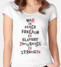 Resist - War is Peace... (Black) Women's Fitted Scoop T-Shirt