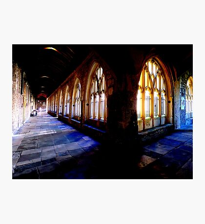 Chichester Cathedral Cloisters Photographic Print