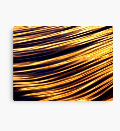 Lines in the water Canvas Print