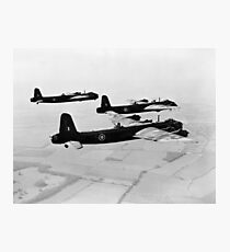 WW2 Photograph - Stirling Bombers Over Cambridge (1942) Photographic Print