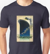 Vintage French SS L'Atlantique Cruise Travel T-Shirt