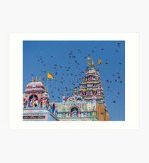 Colorful Hindu Temple India  Art Print