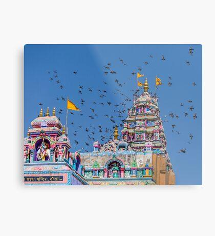 Colorful Hindu Temple India  Metal Print