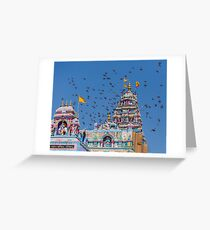 Colorful Hindu Temple India  Greeting Card
