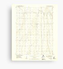 USGS TOPO Map Colorado CO Sunnydale 402120 1949 24000 Canvas Print