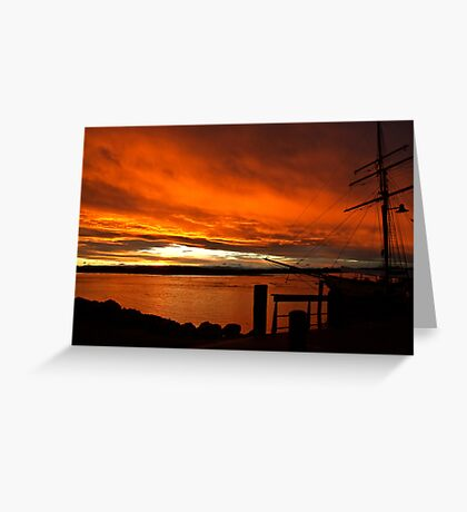 Port Sunset Greeting Card