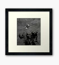 WW2 HEROES NEVER DIES Framed Print
