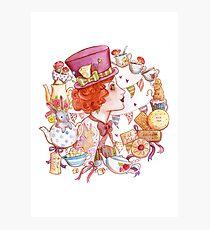 Mad Hatter Alice in Wonderland Inspired Art Photographic Print