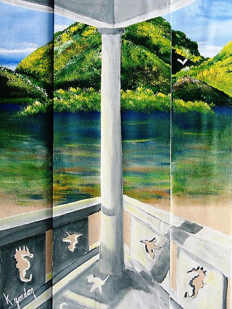 PORCH VIEW by WhiteDove Studio kj gordon