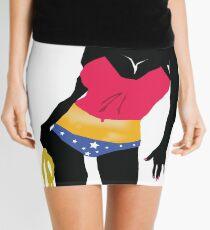 Patriotic Cow girl silhouette Mini Skirt