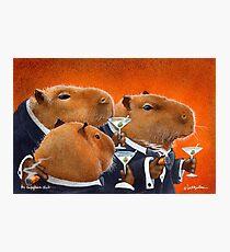 Will Bullas / art print / Capybara Club... / humor / animals Photographic Print