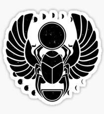 Ancient scarab Sticker