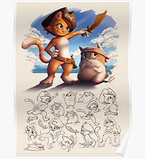 Jacky&Bo Character Sheet Poster
