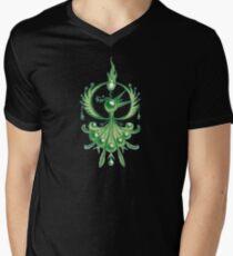 Green Phoenix Men's V-Neck T-Shirt