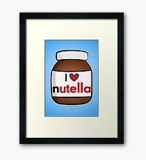 I <3 Nutella Framed Print