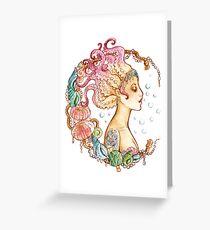 Octopus Mermaid Greeting Card