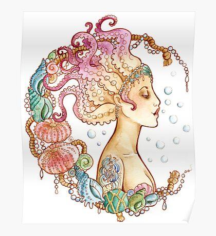 Octopus Mermaid Poster