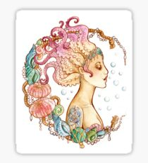 Octopus Mermaid Sticker