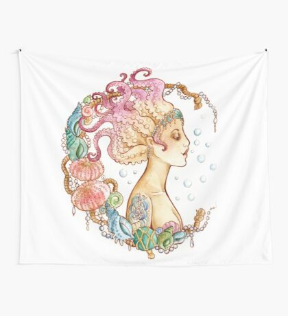 Octopus Mermaid Wall Tapestry