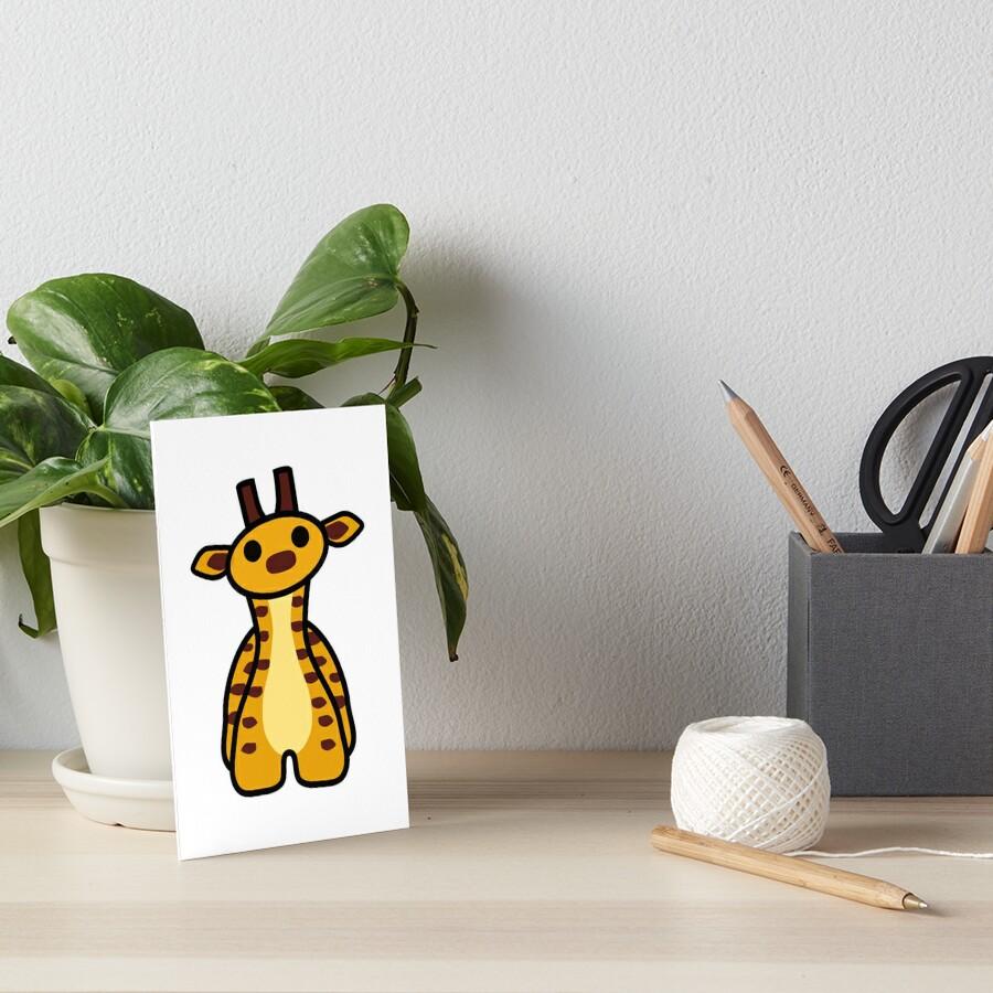 Fizz the Giraffe Art Board Print