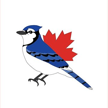 A Blue Bird - Canada Flag by atedaryl