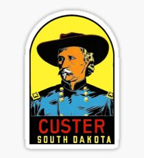 Custer South Dakota Vintage Travel Decal Sticker