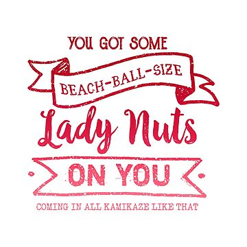 Beach Ball Size Lady Nuts (Strawberry) by whimsyworks