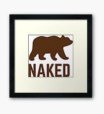 Bear Naked Framed Print