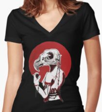 Red Eagle Women's Fitted V-Neck T-Shirt