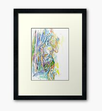 Une Colombe Framed Print