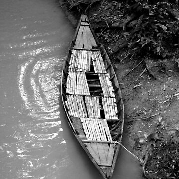 Black and White Boat by Sammo88