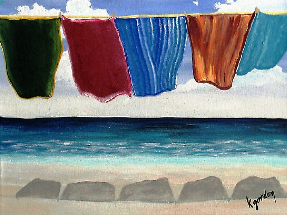 Towels Drying by WhiteDove Studio kj gordon