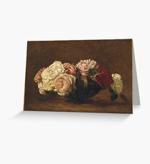 Henri Fantin-Latour - Roses In A Bowl Greeting Card