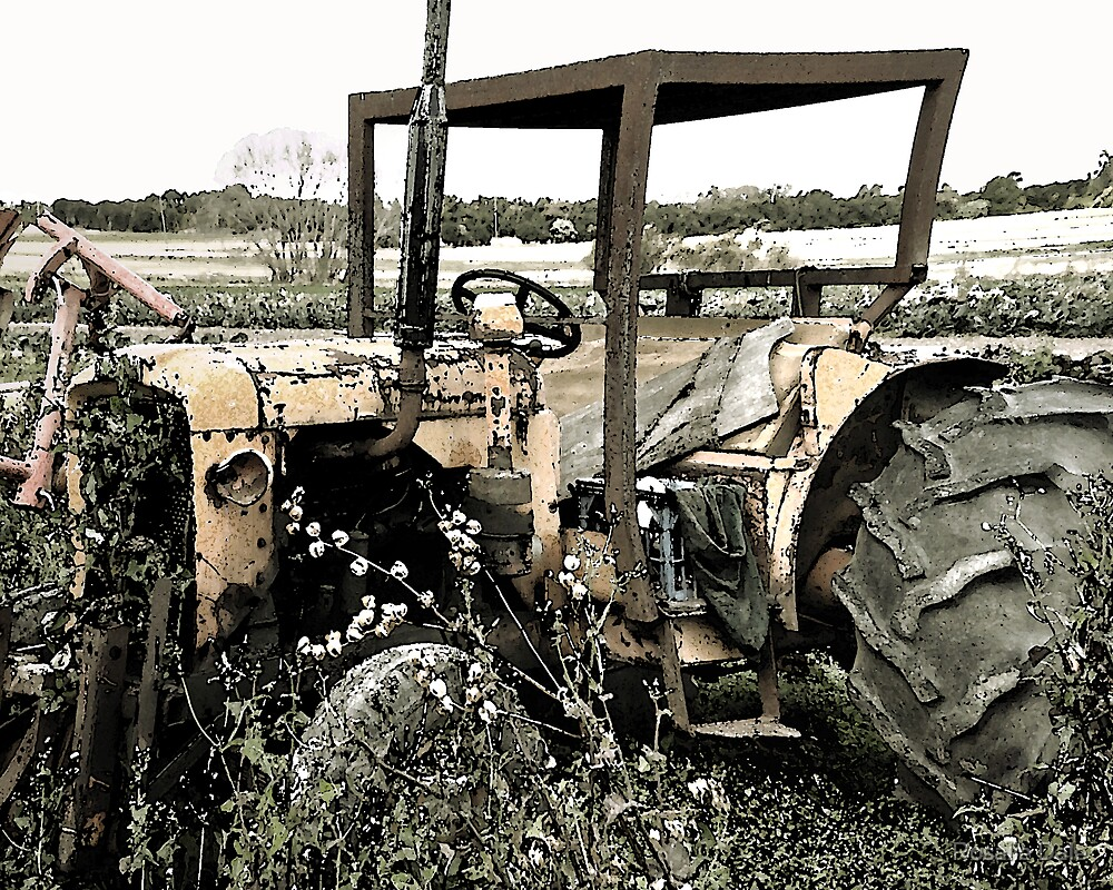 Tractor's resting place by Rosalie Dale