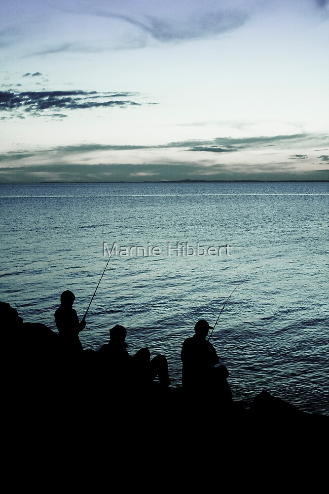 Cold fisherman by Marnie Hibbert