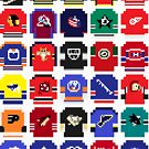 8-Bit Hockey Jerseys by AlCreed