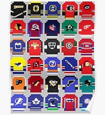 8-Bit Hockey Jerseys Poster