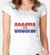 Croatia Women's Fitted Scoop T-Shirt