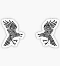 Huginn and Muninn Sticker