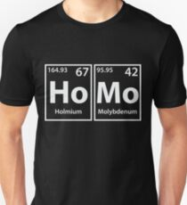 Homo (Ho-Mo) Periodic Elements Spelling Unisex T-Shirt