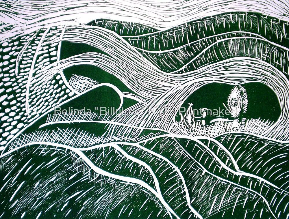 "Girl in a Landscape by Belinda ""BillyLee"" NYE (Printmaker)"